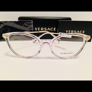 Versace Eyeglasses VE3251B 148 Crystal, Clear New